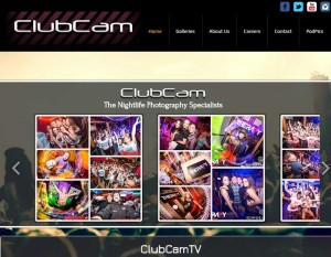 A screen shot of Club Cam Website website