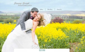 Screen shot of Jimmy Gough Photography website