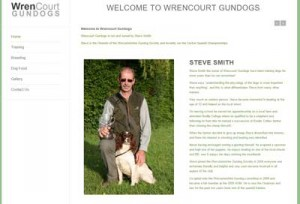 Screen shot of Wren Court Gundogs Website