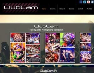 A screen shot of Club Cam Website website